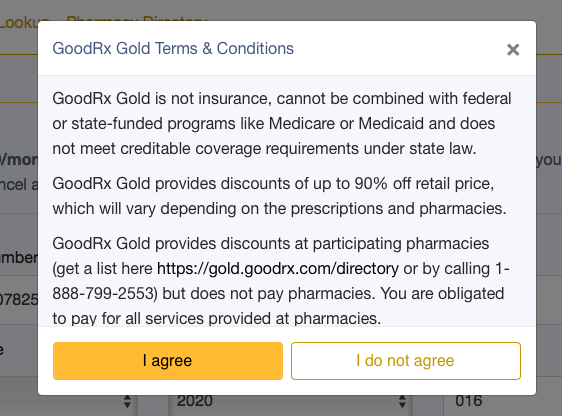 GoodRX GOLD Sign Up