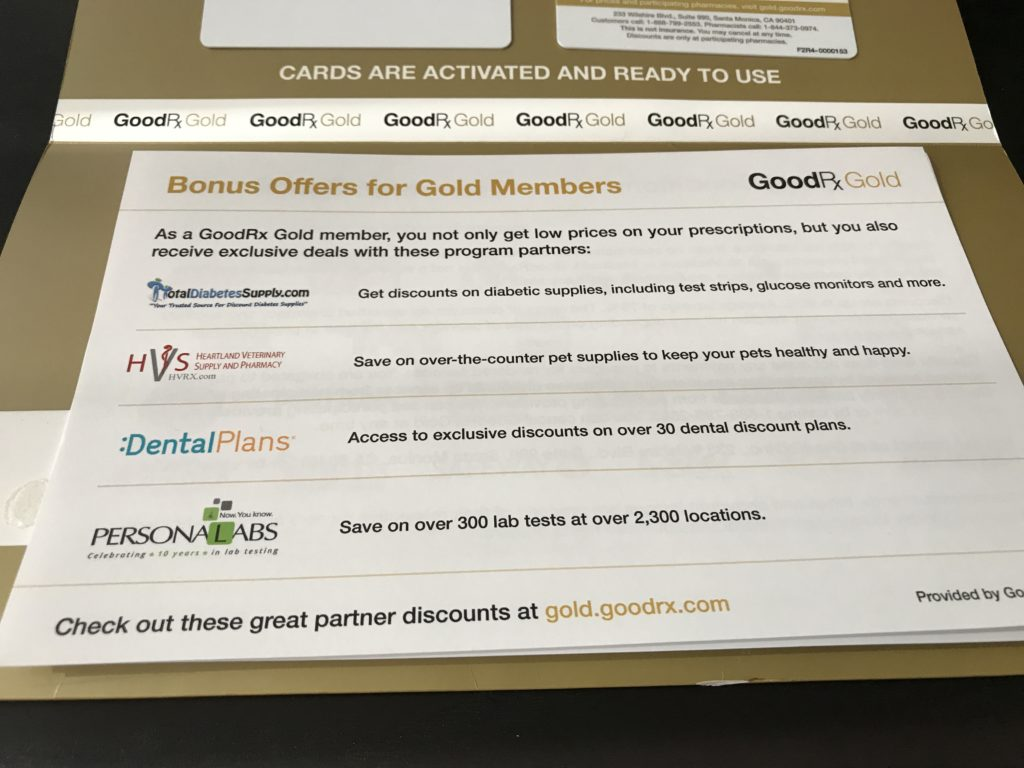 The GoodRx Gold Card Bonus Offers